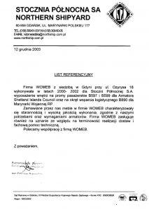 list referencyjny