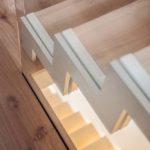 schody iścianka szklana
